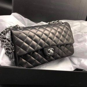 Lambskin Quilted flat bag